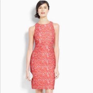 NWOT Ann Taylor Coral Lace Sheath Dress